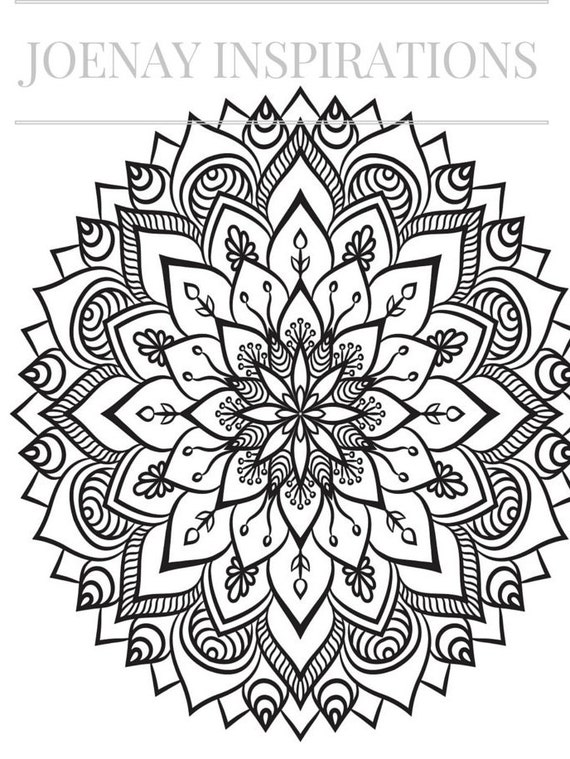 Adult Coloring Book, Printable Coloring Pages, Coloring Pages, Coloring Book for Adults, Instant Download Magnificent Mandalas 2 page 4