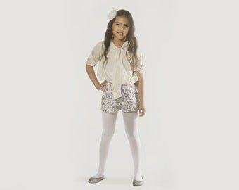 """Girls Floral Shorts in Sizes 2 to 13 Years - The """"Shorts but Sweet"""" in Sprig"""