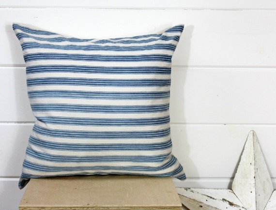 1930s Ticking Stripe Pillow cover
