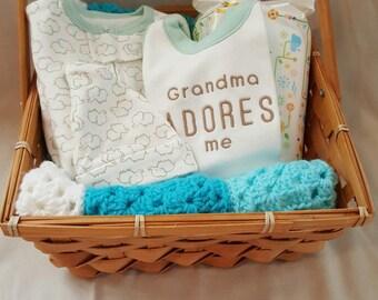 Gender Neutral Baby Gift Basket