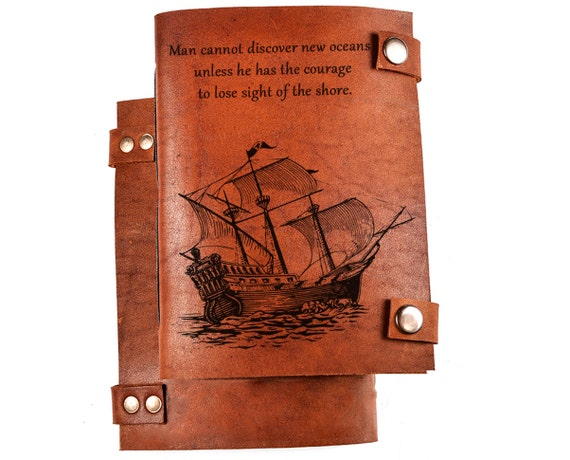 Personalized Notebook - Personalized Leather Journal - Custom Sketchbook - Leather Notebook any engraving