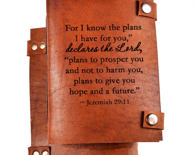 Bible journal - Christian journal - Bible notebook - Christian notebook - Bible quote - Jeremiah 29 11