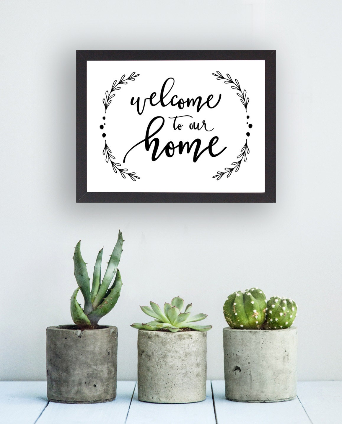 Printable Welcome Home Sign: Printable Welcome To Our Home Laurel Instant Download Hand