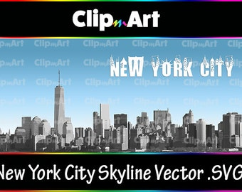 New York City Skyline Vector (.SVG)