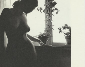 Waiting Fine art photo vintage print Naked woman near the window Small room decor Sexy photo Sexy wall art Naked woman print