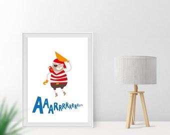 Art print / / pirate