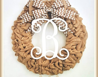 Front Door Wreath-Front Door Burlap Wreath-Everyday Wreath-Spring Wreath-Rustic Wreath-Housewarming Gift-Mother's Day Gift-Outdoor Wreath