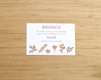 Carton of invitation - brunch - complementary - elegant - rustic - wedding invitation