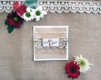 To share marriage - lace and burlap - rustic