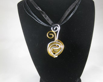 Two-toned Spiral Necklace