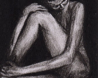 Calm - Charcoal Limited Edition Mounted Print