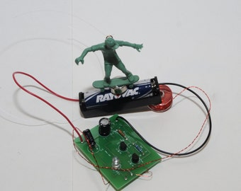 Pendulum Motor, toyboarder, battery holder and coil