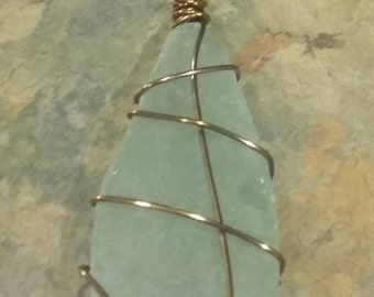Bronze Wrapped Glass Necklace