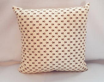 Soft Yellow Vintage Fabric Pillow