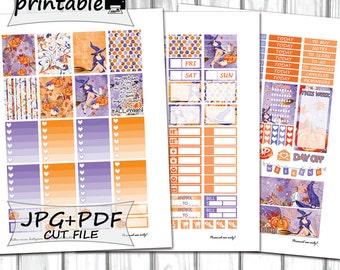 Halloween Planner Stickers/Printable Planner Stickers/Erin Condren Planner Stickers/October Planner Stickers/Planner Stickers Printable