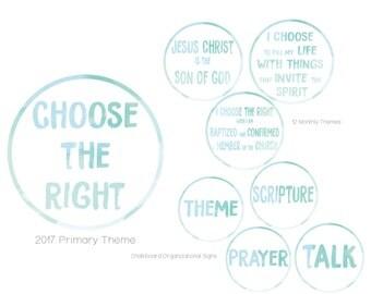 2017 LDS Primary Theme Kit