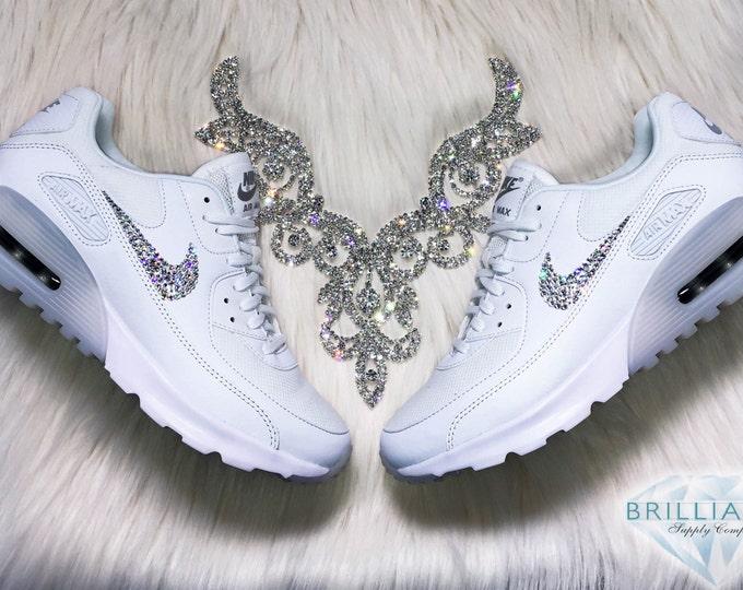 bb5abf8821 ... Swarovski Nike Shoes Air Max 90 Ultra Essential White Bling Nike Shoes  Customized with Swarovski® ...