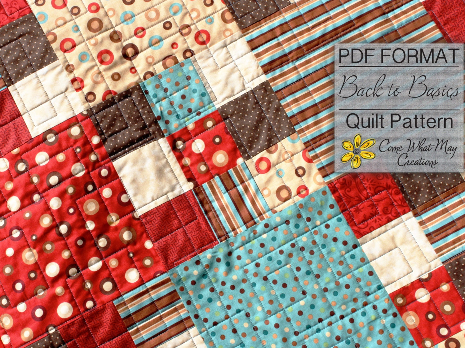 Quilt Pattern For 9 Fat Quarters : Nine Patch Baby Quilt Pattern Fat Quarter Quilt Pattern Back