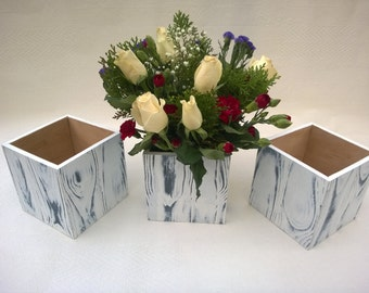 Handmade decorated wooden box Wedding Table Centrepiece