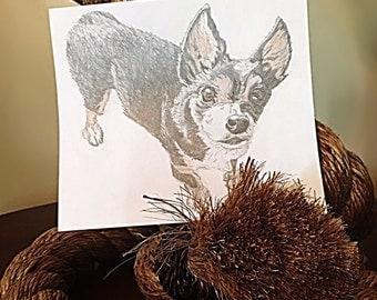 "5""x7""Custom Pet Pencil Portrait From Your Photo"