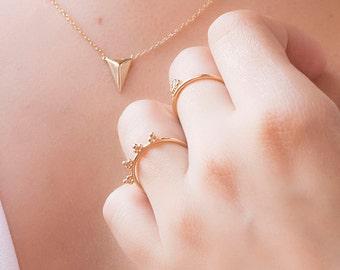 Little Balls ring - Boho inspired ring - Thin gold ring - Stacking rings - Gold simple ring - Minimal ring - Minimal jewelry - Dainty ring