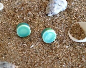 50% SALE Ceramic Stud Earrings