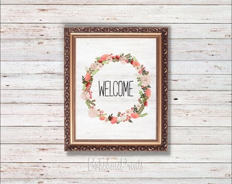 Welcome Wall Decor welcome wall art | etsy