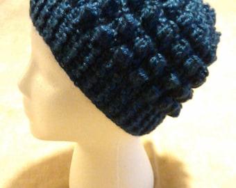 Bumpy Winter Hat Handmade Crochet Skullcap Beanie Women's