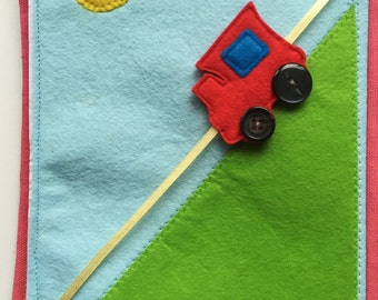 quiet book - Personalized gift - busy book - activity book - felt book - felt train - toy train - toddler activity book