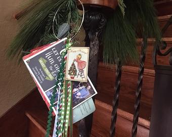 Christmas Blessing Ring, Card Holder, Christmas Card Display, Vintage Christmas Decor, 20 Dollar Gift, Holiday Card Ring, Secret Santa Gift