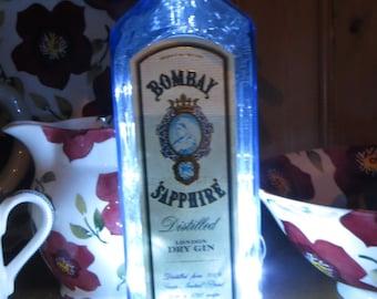 Bombay Sapphire gin bottle LED light