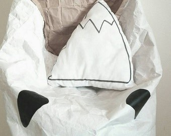 The Icy Mountain Little Pillow |  Monochrome baby | Baby decor | Nursery decor