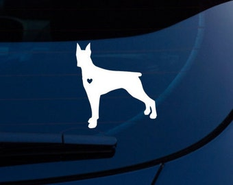 Love A Doberman Decal - FREE US SHIPPING