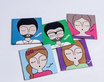 Hand painted coasters by Mavitos