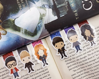 Shadow Hunters Inspired Magnetic Bookmark, The Mortal Instruments, Clary Fray, Jace Wayland, Simon Lewis, Magnus Bane, Alec Lightwood, Izzy