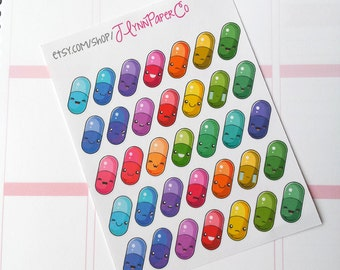 Diy Pill Squishy : Kawaii pills Etsy