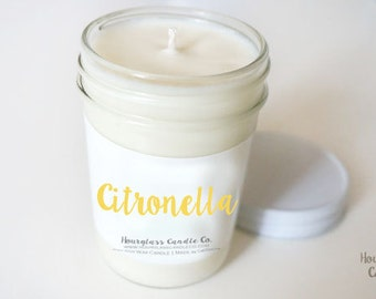 Citronella - Natural Soy Candle in Reusable Jars