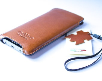 Samsung Galaxy S7 Genuine Leather Handmade sleeve pouch case 100% made in italy.