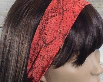 Burnt orange textured headband