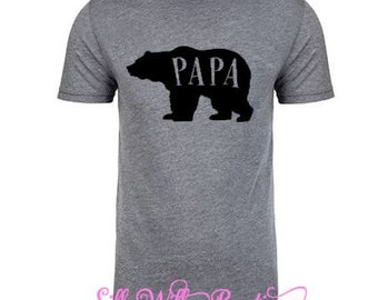 Papa Bear shirt, new dad shirt, Father's Day gift, gift for him