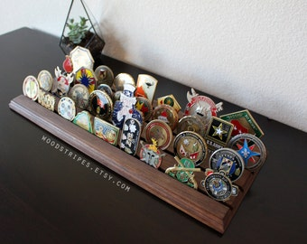 Modern Flat Military Coin Holder, Large Display, Challenge Coin, Coin Rack, Desk Display, First Responder, FREE SHIPPING!