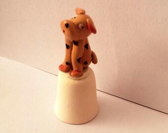 Dog thimble, thimble, dog, miniature dog