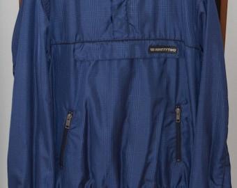 Fishbone Windbreaker Pullover-Jacket, Size M/L