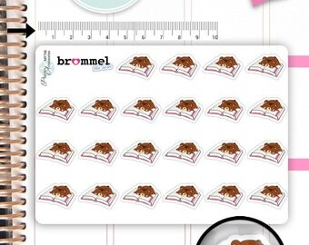Kawaii Stickers Cute Brommel Bear Stickers Reading Stickers Book Stickers Planner Stickers Functional Stickers Decorative Stickers NR798