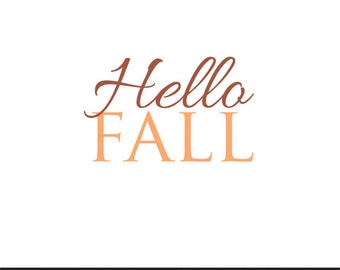 hello fall clip art svg dxf file instant download silhouette cameo cricut digital scrapbooking commercial use