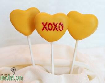Heart Cake Pops (Single Color)