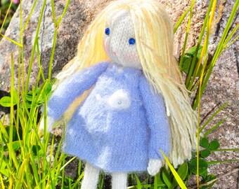 Doll-Toy- Auri doll-knitted doll-doll toy-Auri-Elvesworld