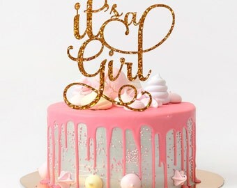 It's a Girl Cake Topper Baby Shower Cake Topper Baby Shower Decoration Baby Shower Girl Glitter Cake Topper Baby Girl Shower