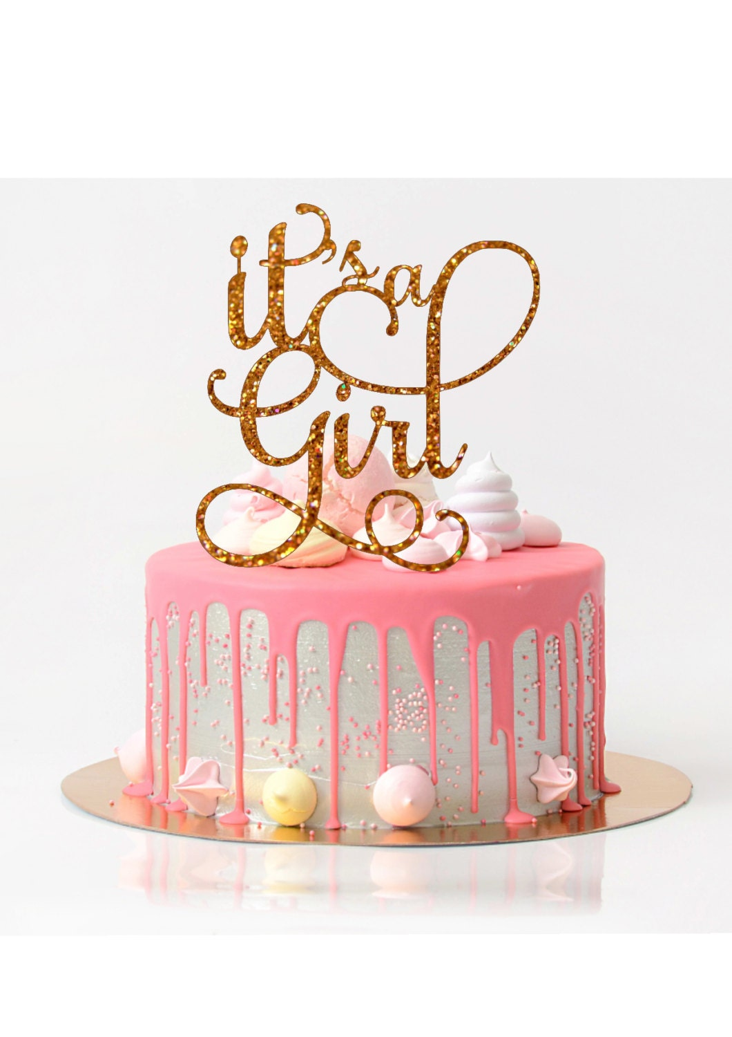 It 39 s a girl cake topper baby shower cake topper baby for It s a girl dekoration