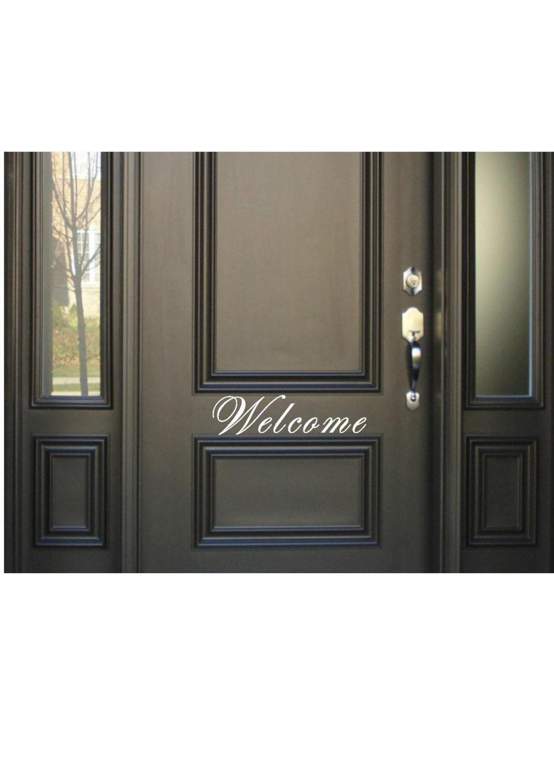 Welcome Decal Front Door Decal Home Vinyl For Door Greeting